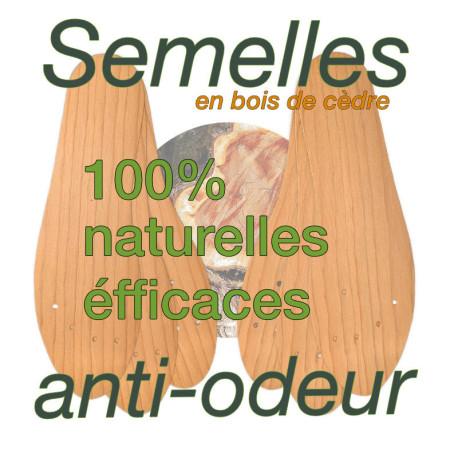 lot de 3 semelles anti-odeurs