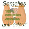 Semelles anti-odeurs lot de 3