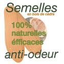 Semelles anti-odeurs