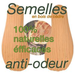 Semelles anti-odeurs en bois de cèdre