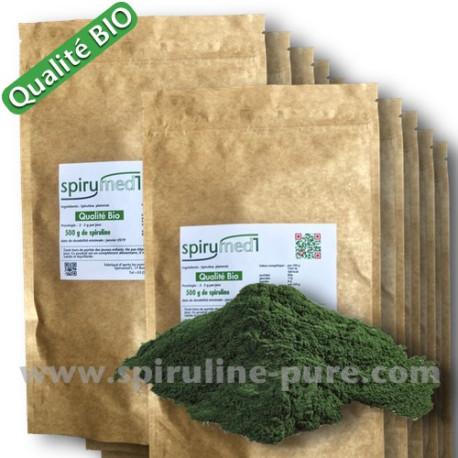 Spiruline bio - 100 kg poudre de spiruline pure qualité bio pour revendeur