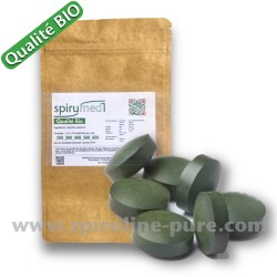 Spiruline bio - 1000 comprimés de spiruline pure qualité bio